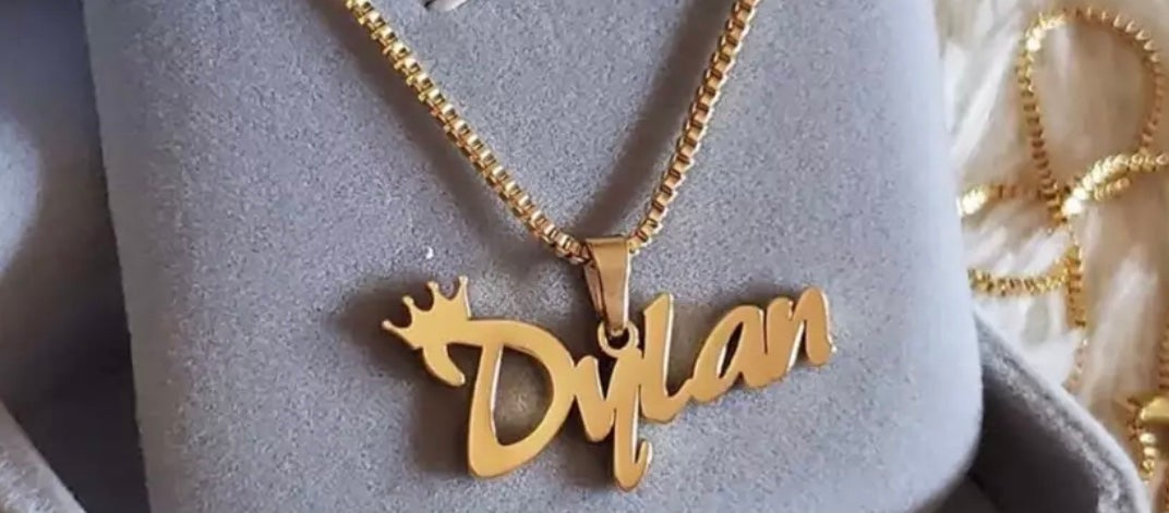 Image of Customized Kids Name Chain