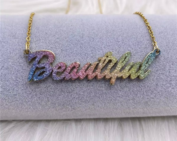 Image of Colorful Acrylic Name Plate