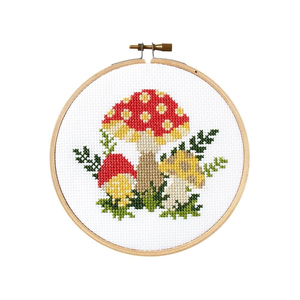 Image of Mushroom Embroidery Kit