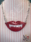 Red vampire smile necklace