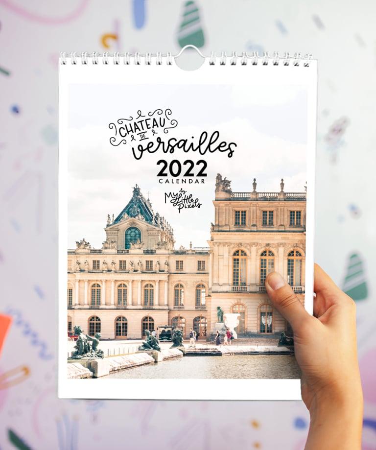 Image of 2022 Palace of Versailles Paris wall calendar