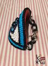 Blue beaded evil eye bracelet