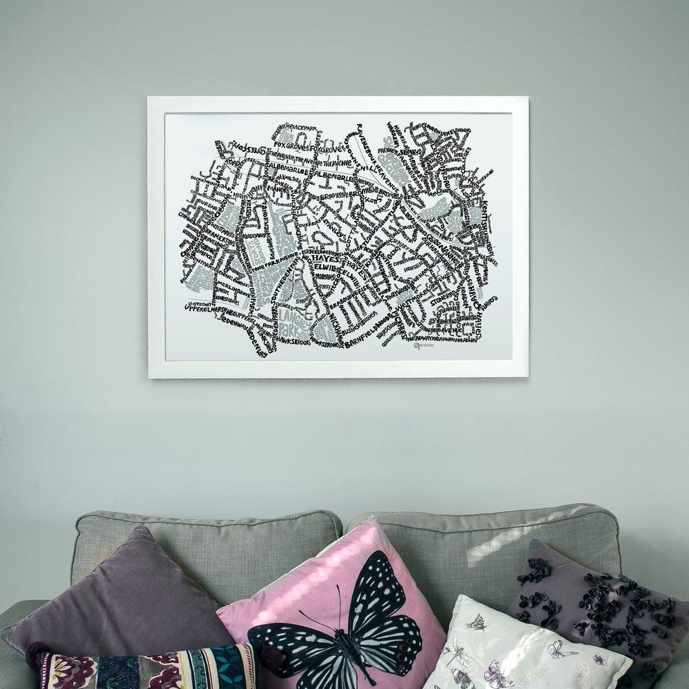 Image of Beckenham - Shortlands - Eden Park - SE London Type Map