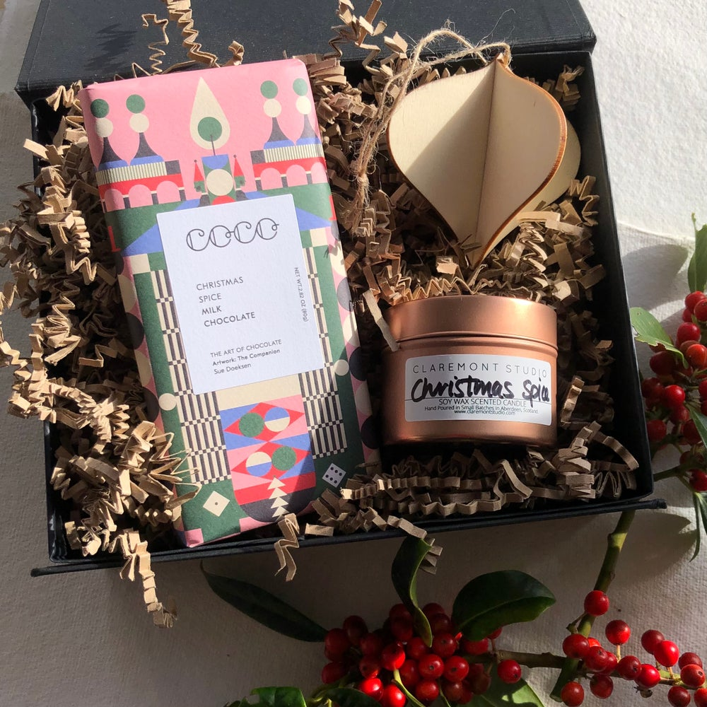 Image of Christmas Spice Chocolate & Candle Gift Box