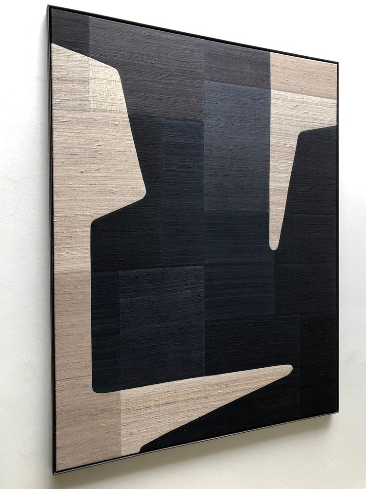Image of abstract stitched composition