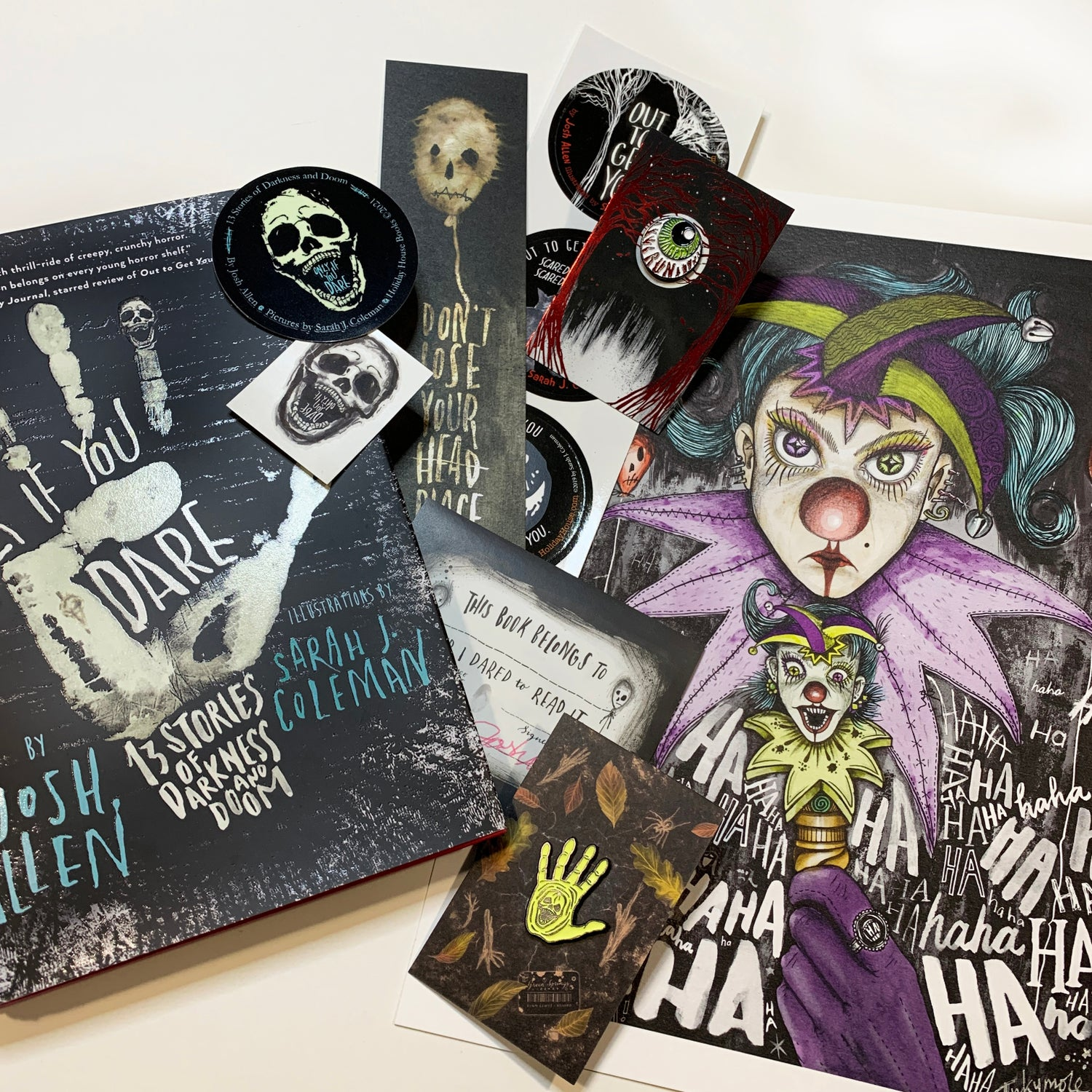 'Only If You Dare' Signed Art + Signed Book + Pin Badge (choice of 2) + SWAG