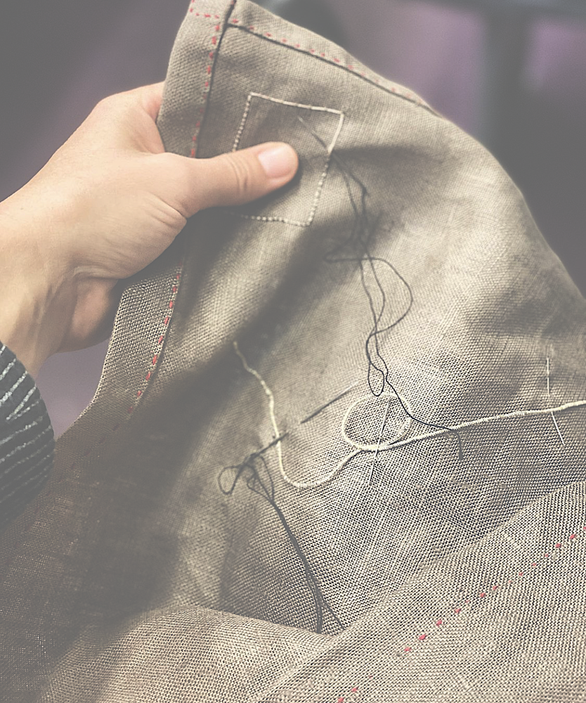 Image of Brown linen fabric