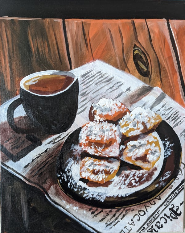Image of coffee and beignets