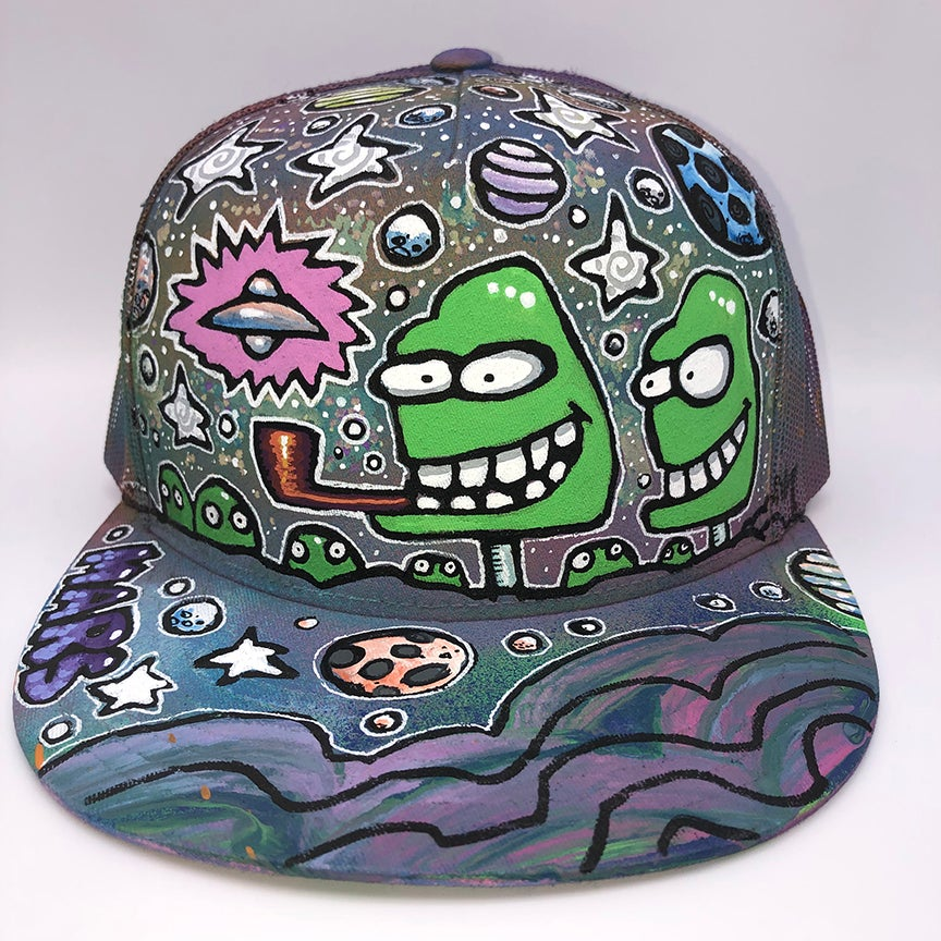 Image of Hand Painted Hat 107_21