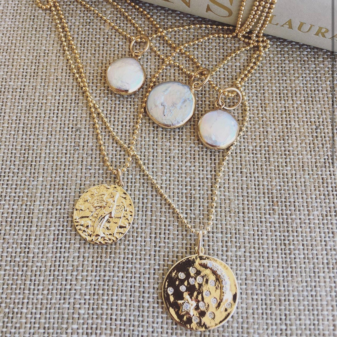 TenThings. COIN Pearl. Necklace. N-COINPRL
