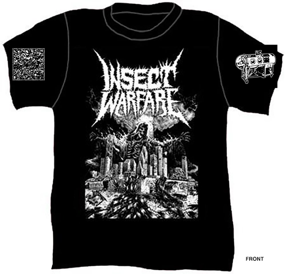 """Image of INSECT WARFARE - """"World Extermination"""" short sleeve concert tee"""