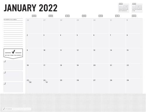 Image of PRINTABLE 2022 DESK CALENDAR