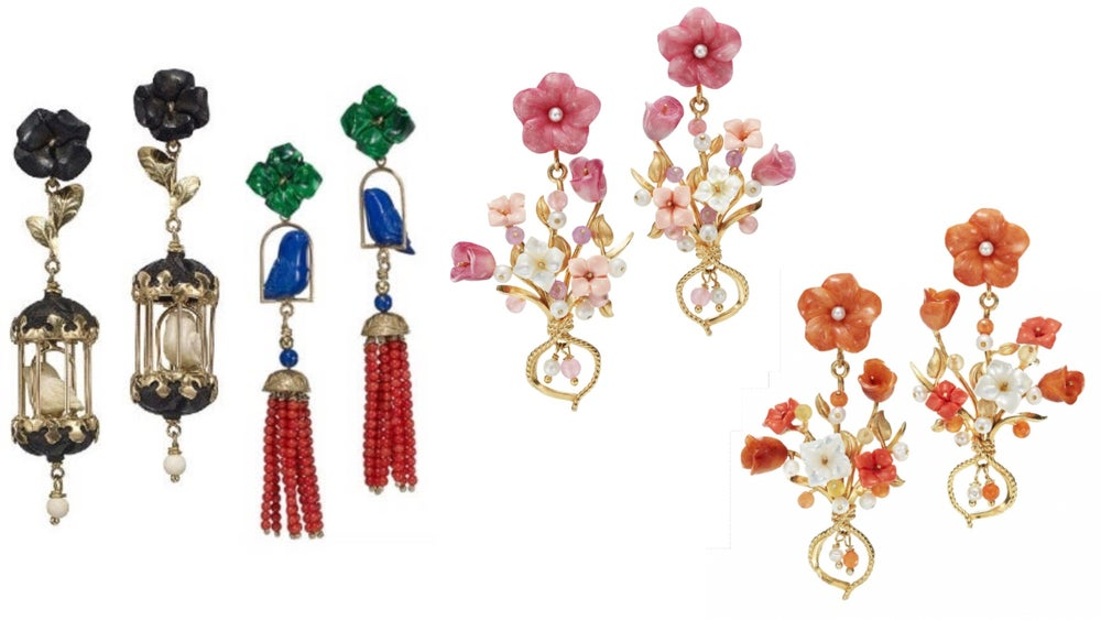 Image of Assorted Bird and Floral Earrings