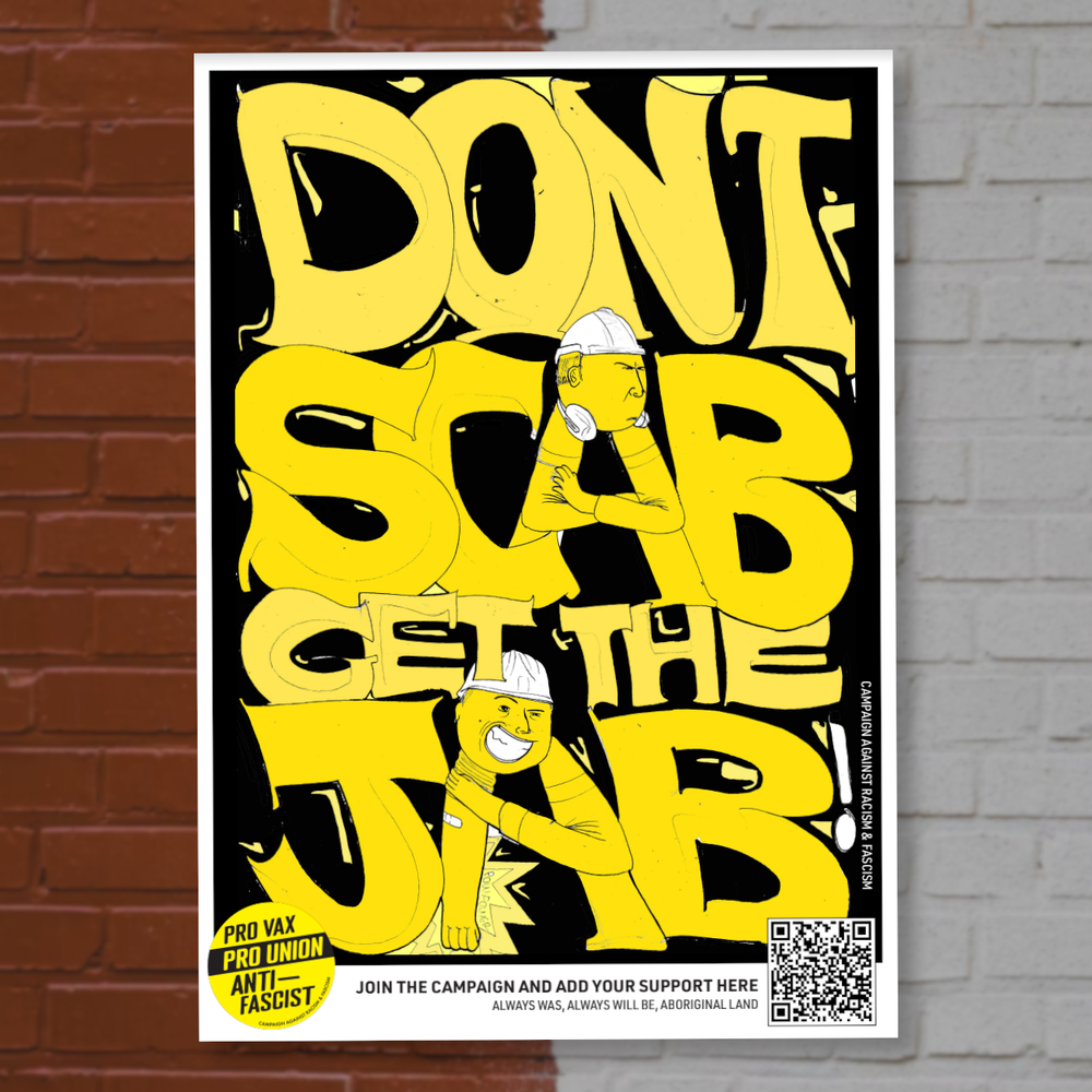 Image of Don't Scab, Get the Jab Poster Pack (Yellow Design)