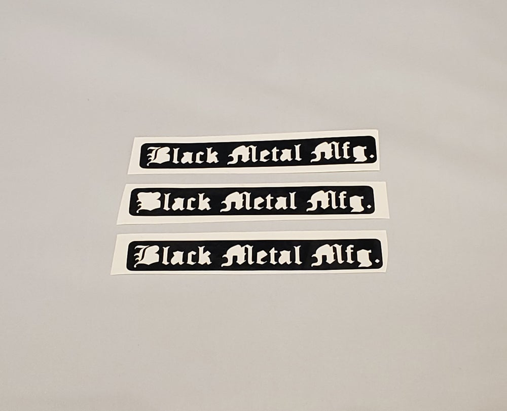 Image of Black Metal Mfg. Sticker (1)