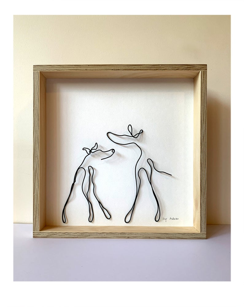 Image of Wire shadow box square: That's the word