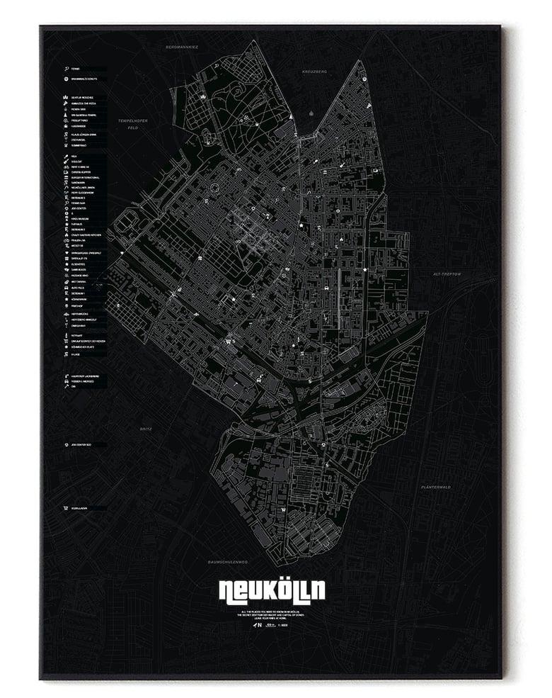 Image of Berlin Neukölln underground Karte