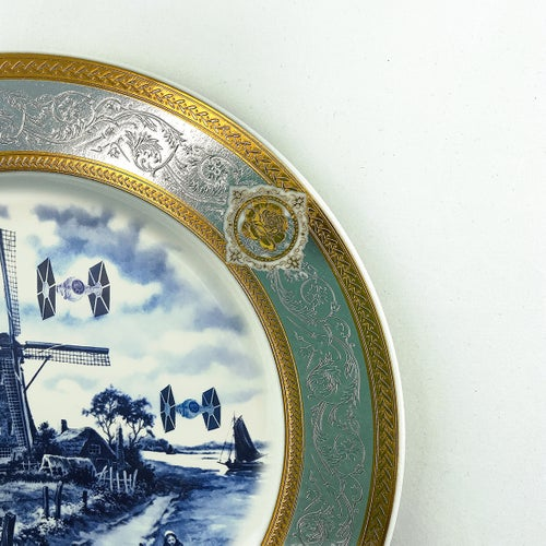 Image of Tie Figthers in Holland -  Fine China Plate - #0790