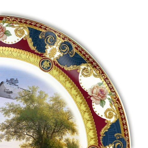 Image of Solo landscape - Large Fine China Plate - #0777