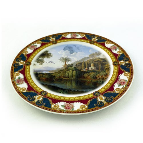 Image of Death Star Landscape - Fine China Plate - #0787