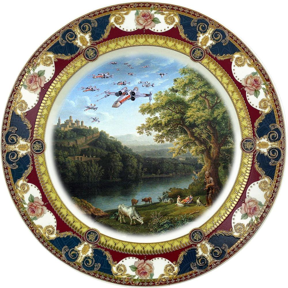 Image of Squad Landscape - Fine China Plate - #0787