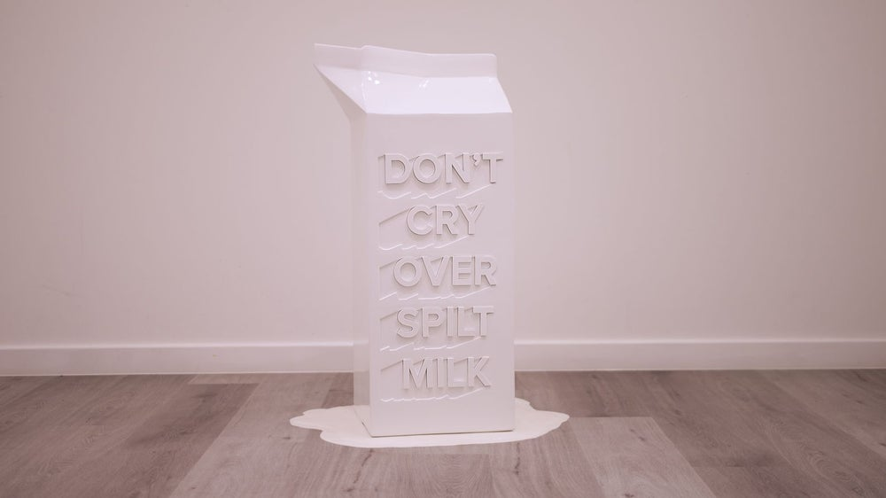 Image of Milk carton sculpture
