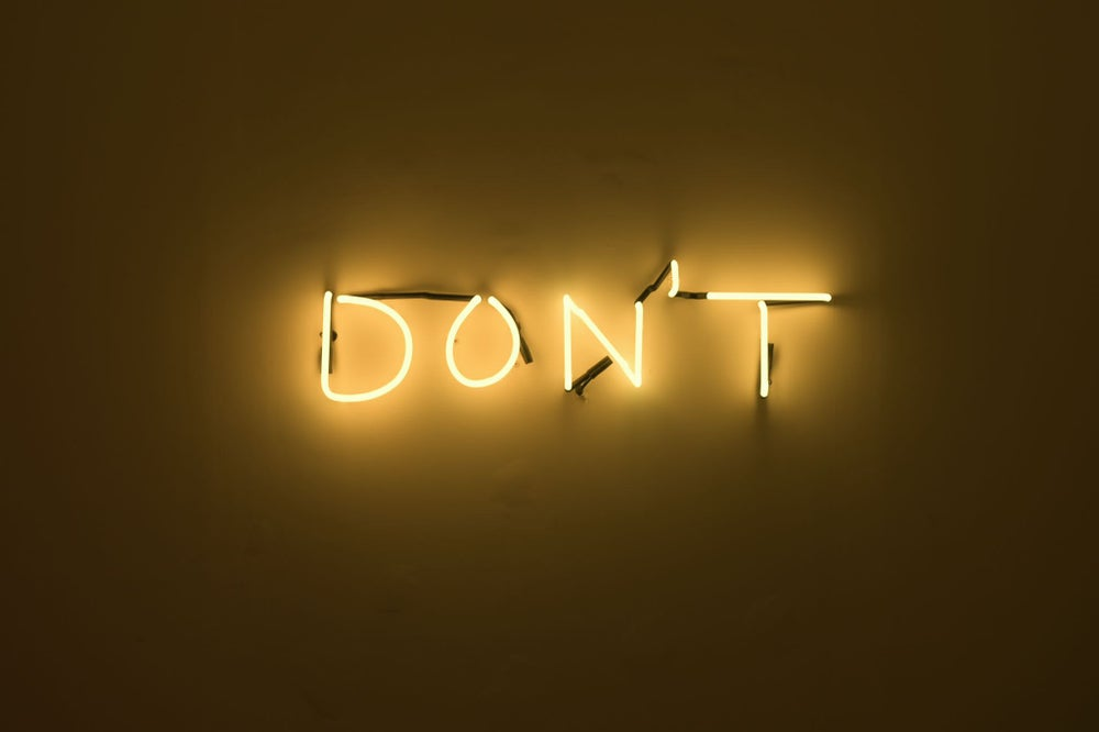 Image of Don't