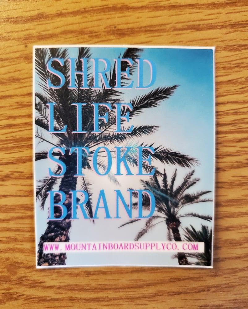 "Image of Shred Life ""Palms"" Helmet Sticker"