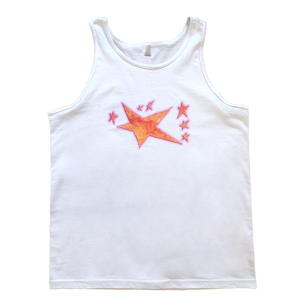 Image of Distorted Flames Tank Top White