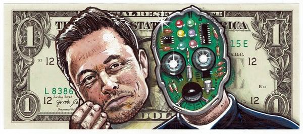 Image of Real Dollar Original. Face Off Musk.