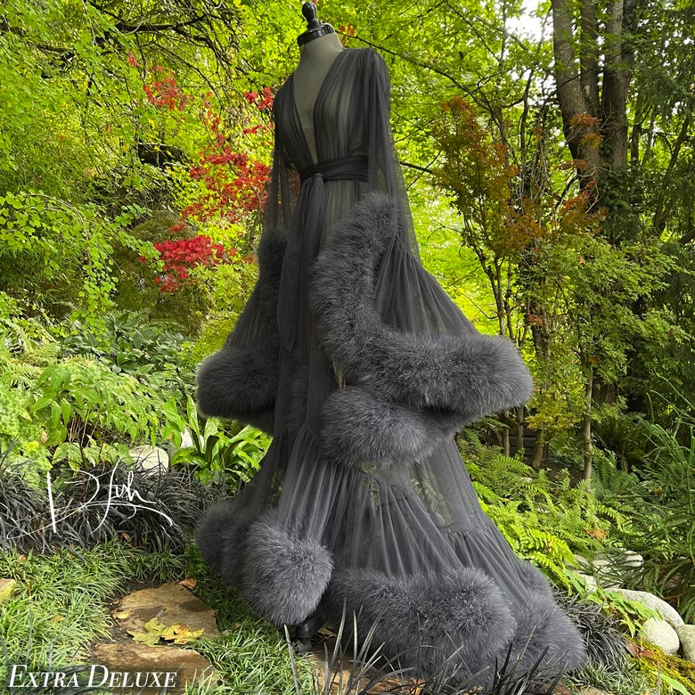 """Image of Grey Noche """"Cassandra"""" Dressing Gown"""