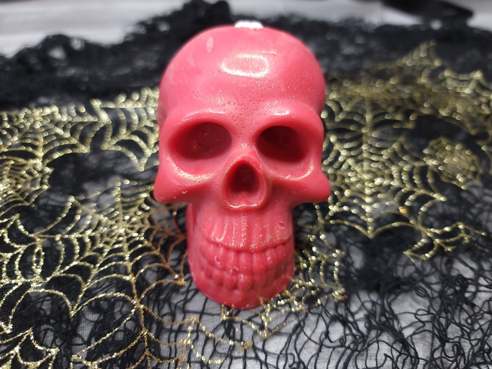 Image of Skullyton (Red) Soy Wax Pillar Candle