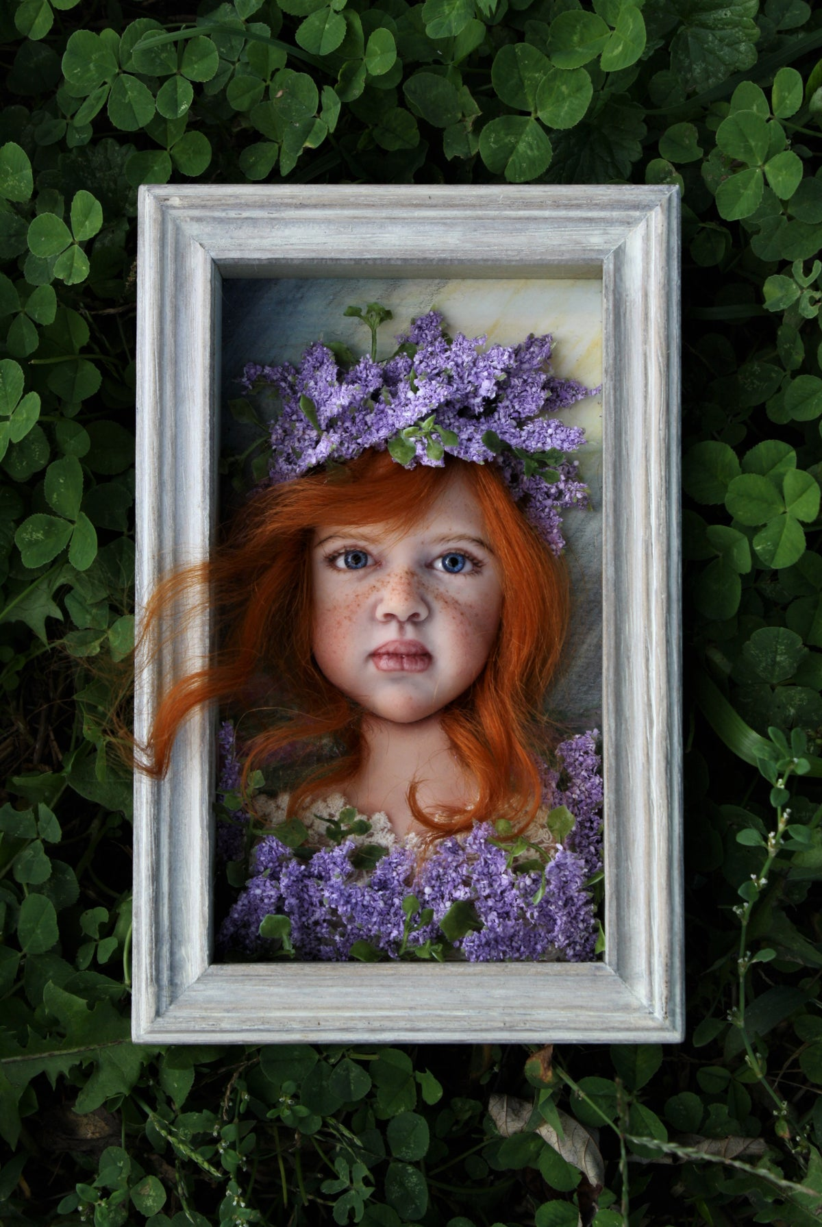 """Image of OOAK Polymer Clay Sculpted Artwork """"Violetta"""""""