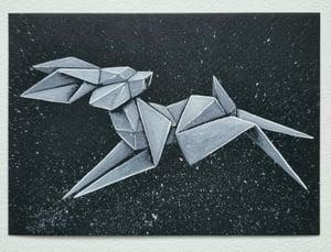 "Image of ""White Rabbit #2"" original watercolour"