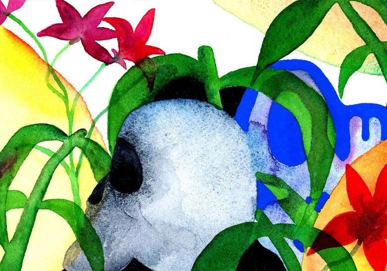 Image of Imaginary Landscape & Skull 03