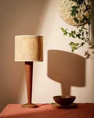 Wick - Large lamp base in Utile wood