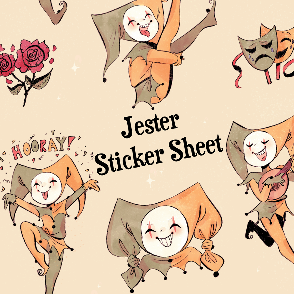 Image of The Jester Sticker Sheet *PREORDER*