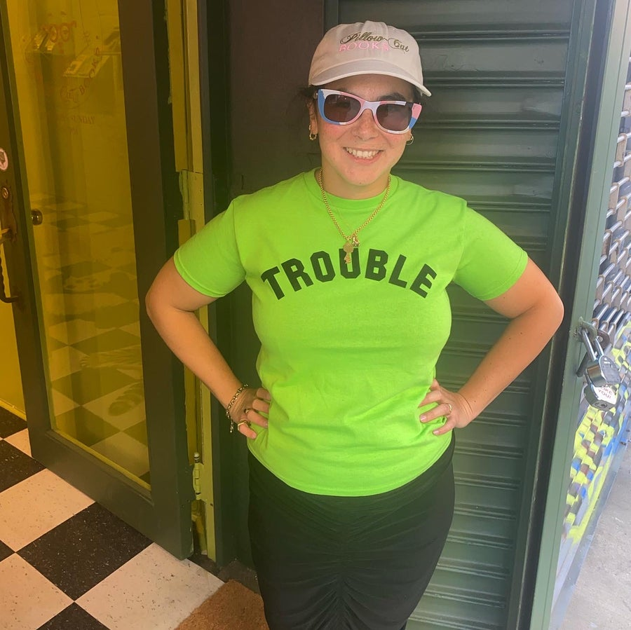Image of Trouble Tee Lime Green Halloween Edition