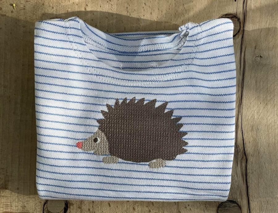 Image of NEU Igelshirt in blau gestreift Art.244278