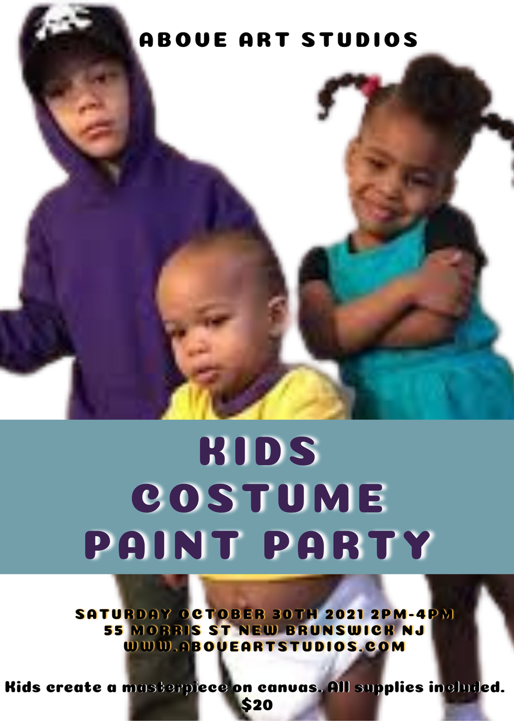 Kids Costume Paint Party Oct. 30th