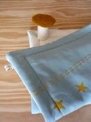 Image of plaid bébé étoiles