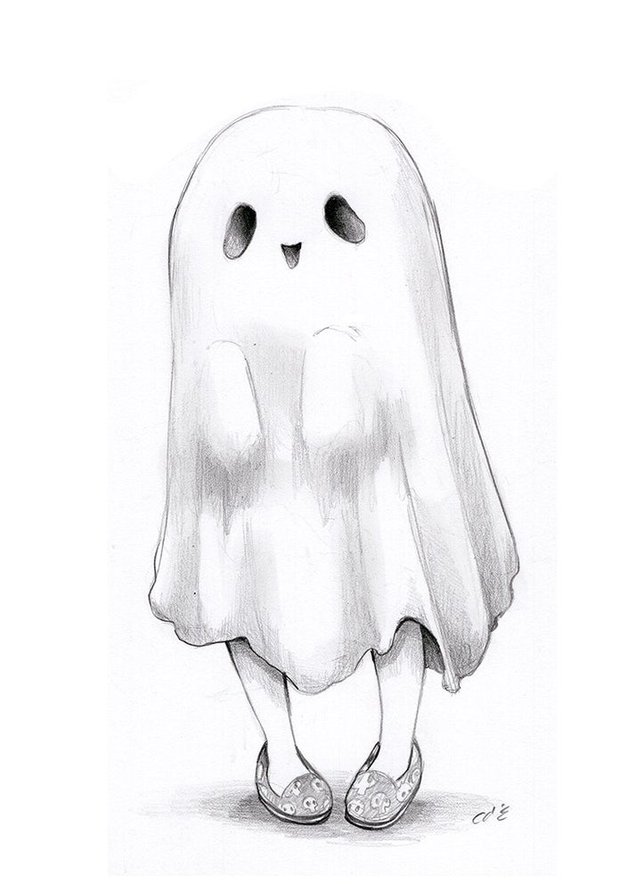 Image of Day 15 Friendly Ghost Drawlloween 2021 Print