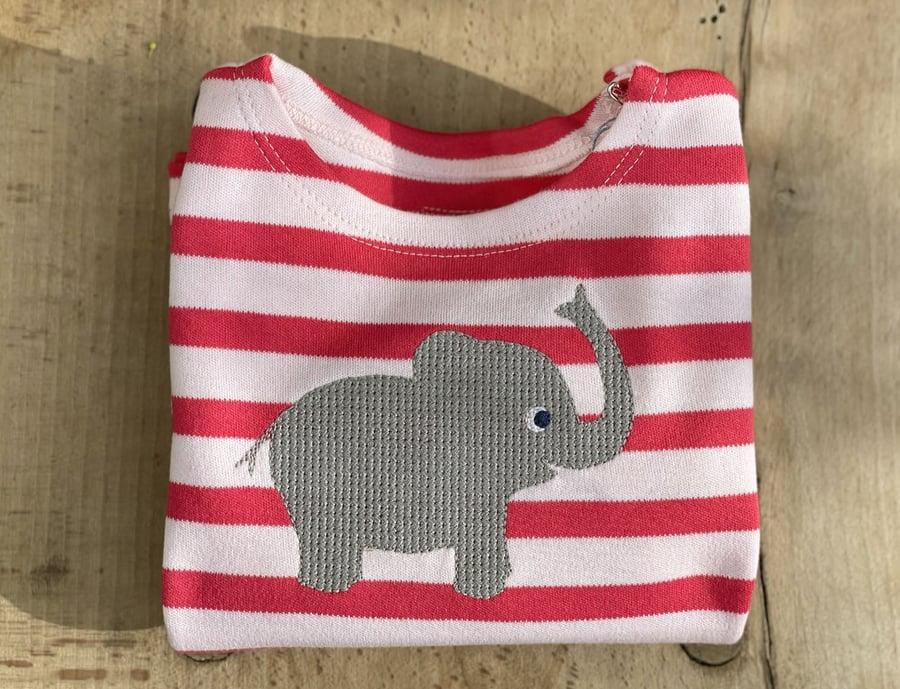 Image of NEU Elefantenshirt rot gestreift Art.207273