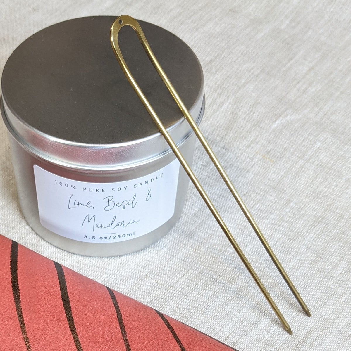 Image of Una Minimal Brass Hair Pin