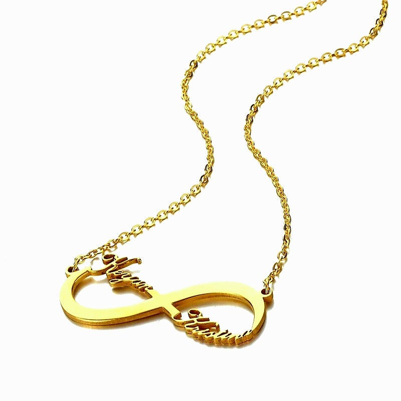Image of PERSONALISED NECKLACE-TWO HEARTS