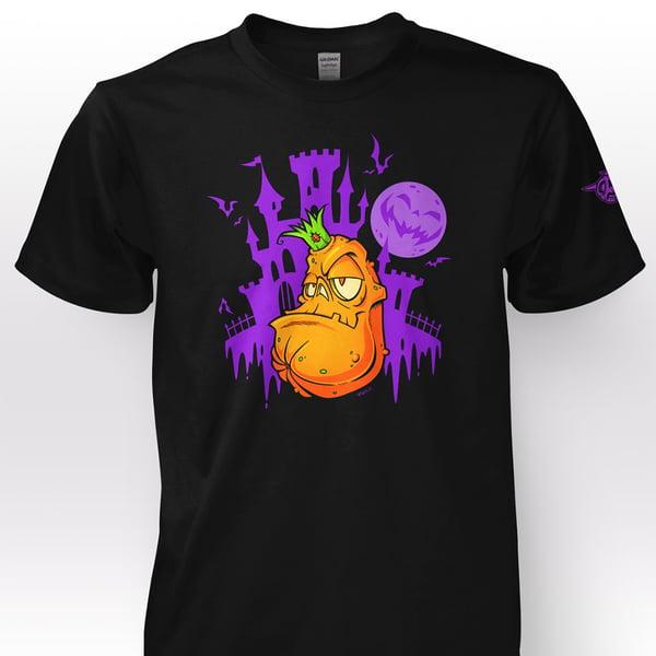 "Image of ""Kingdom of the Zombie Pumpkins!"" T-Shirt - Knight Black"