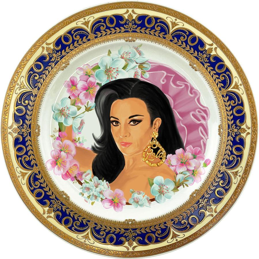 Image of Y cómo me las maravillaría yo? - Lola Flores - Fine China Plate - #0786