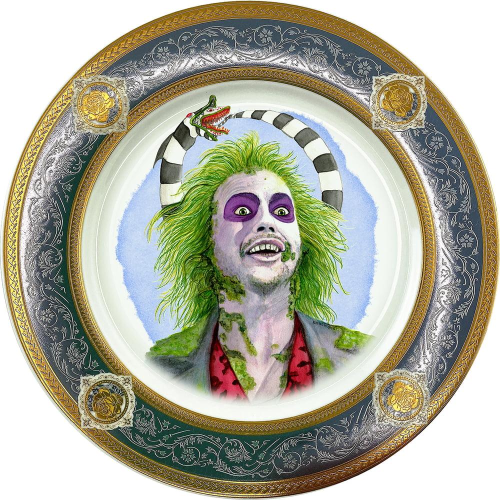 Image of Beetlejuice - Fine China Plate - #0788