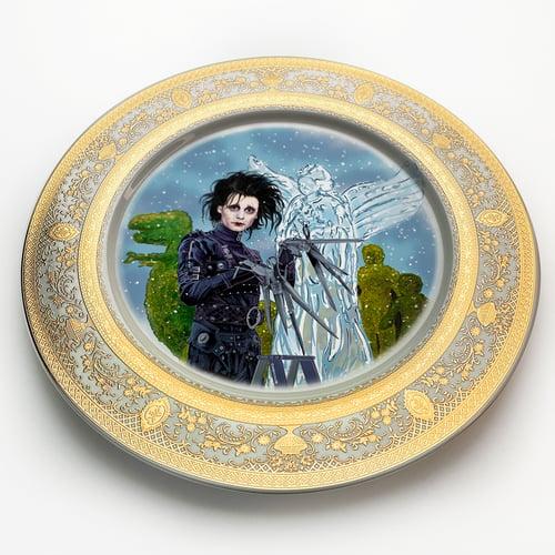 Image of Edward Scissorhands - Large Fine China Plate - #0743