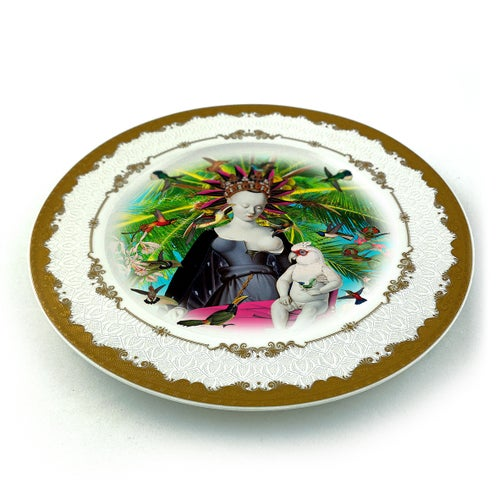 Image of Queen of the birds - Fine China Plate - #0789